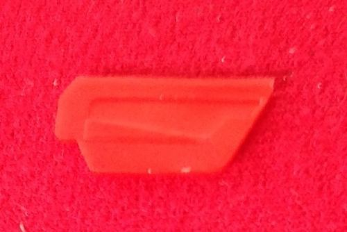 Corgi #241 - Original - Ghia L. 6.4 - Red plastic inside door trim for the Right Hand Door
